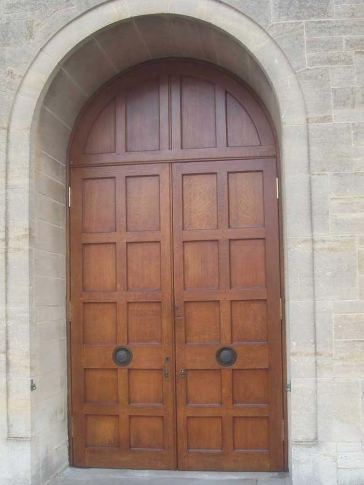Church door revival by Paul Malvern Restoration, Gloucestershire